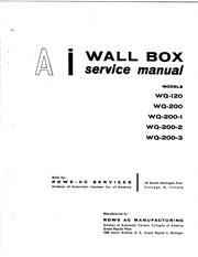 AMI Wallbox Service Manual WQ-120 WQ-200 : Free Download