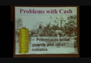 Tokens & Money of the US Prison System, Cons w/ Cash