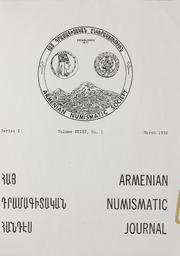 Armenian Numismatic Journal, Series 1, Vol. 18, No. 1-4, with Bulletin No. 15C and Bulletin No. 16