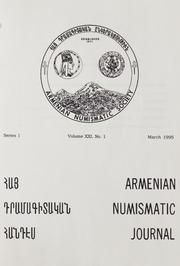 Armenian Numismatic Journal, Series 1, Vol. 21, No. 1-4, and Bulletin No. 17
