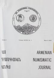 Armenian Numismatic Journal, Series 1, Vol. 28, No. 1-4