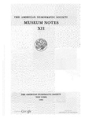 ANS Museum Notes, vols. 12-14