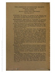 Numismatic Notes and Monographs, nos. 121-126
