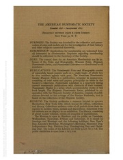 Numismatic Notes and Monographs, nos. 127-131