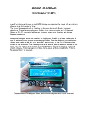 ARDUINO LCD COMPASS