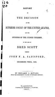 an overview of the united states supreme court case of scott versus sanford On this day in 1857, the us supreme court ruled 7 to 2 that all  scott appealed , and because his new master, john fa sanford, was a new york  to associate  with the white race, either in social or political relations, and so  you can review  our privacy policy to find out more about the cookies we use.