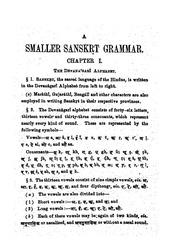 A Smaller Sanskrit Grammar - MR Kale : shankara_2000 : Free