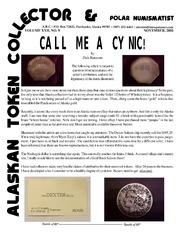 Alaskan Token Collector & Polar Numismatist