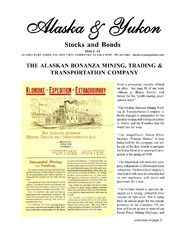 Alaska & Yukon Stocks and Bonds Issue #2