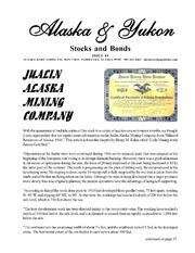 Alaska & Yukon Stocks and Bonds Issue #4