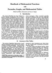 Handbook of Mathematical Functions (AMS55)          texts        Handbook of Mathematical Functions (AMS55)