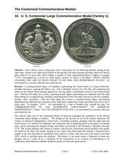 A Cabinet of Centennial Medals