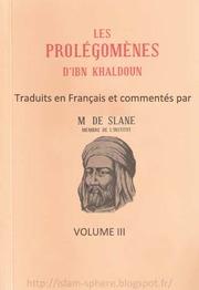 TÉLÉCHARGER MUQADDIMA IBN KHALDOUN EN FRANCAIS PDF