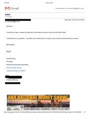 American Numismatic Association Correspondence