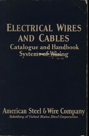 Peachy Electrical Wires And Cables Catalogue And Handbook Systems Of Wiring Cloud Hisonuggs Outletorg