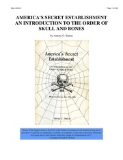an introduction to the order of the skull and bones The skull & bones society has been described as the most  the skull and  bones society was largely responsible for the introduction of.