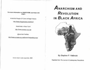 Anarchism and that black colored movement and also several other documents with training