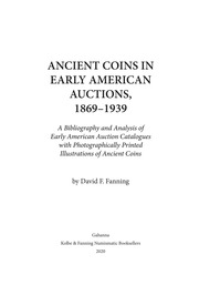 Ancient Coins In Early American Auctions, 1869-1939