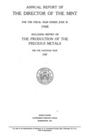 Annual Report of the Director of the Mint Fiscal Year Ended June 30, 1948