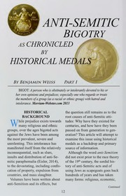 Anti-Semitic Bigotry as Chronicled by Historical Medals