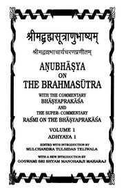 Brahma Sutra Bhashya Madhvacharya Pdf