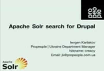 Apache Solr search for Drupal