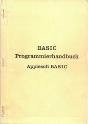 Apple Basic programming manual preliminary German 1978