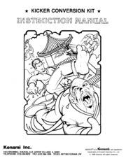 arcade game manual kicker by konami free download borrow and rh archive org