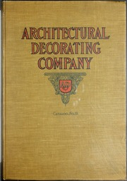 Exterior and interior ornamentation in plaster, composition and cement ...
