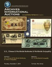 U.S., Chinese & World Banknotes & Worldwide Scripophily