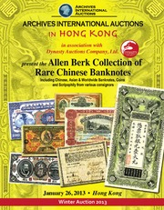 Alan Berk Collection of Rare Chinese Banknotes