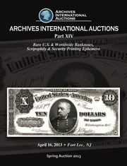 Rare U.S. & Worldwide Banknotes, Scripophily & Security Printing Ephemera