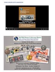 U.S. & Worldwide Banknotes, Coins, Scripophily, Historic Ephemera & Security Printing Ephemera