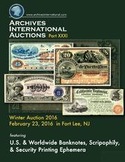 U.S. & Worldwide Banknotes, Scripophily, & Security Printing Ephemera