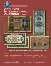 U.S, Chinese & Worldwide Banknotes, Scripophily & Coins