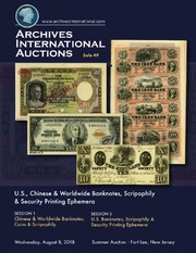 U.S., Chinese & Worldwide Banknotes, Scripophily & Security Printing Ephemera
