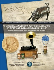 Inaugural Anniversary Auction Celebration of Important Global Companies - 2012