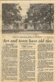 Art and town have old ties