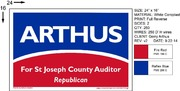 Arthus For Auditor 24 16 Sign