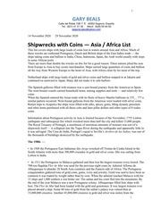 Asia & Africa Shipwrecks List