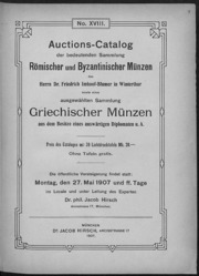 Auctions-Catalog der bedeutenden Sammlung Roemischer und Byzantinischer muenzen