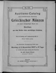 Auctions-Catalog einer hochbedeutenden sammlung Griechischer