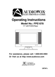 audiovox fpe1078 tv dvd combo user manual free download borrow rh archive org