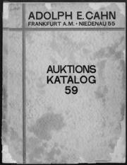Auktions Katalog 59