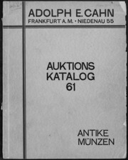 Auktions Katalog 61