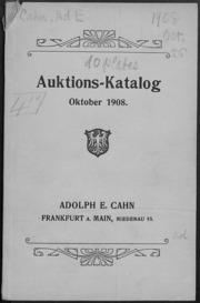 Auktions-Katalog Oktober 1908