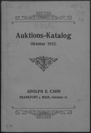 Auktions-Katalog Oktober 1912