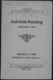 Auktions-Katalog Oktober 1910