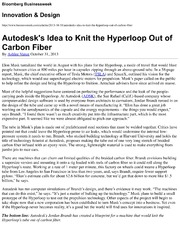 Autodesk-s Idea to Knit the Hyperloop Out of Carbon Fiber - Innovation and Design - Bloomberg Newsweek