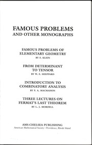 The colossal book of short puzzles and problems martin gardner famous problems and other monographs fandeluxe Image collections